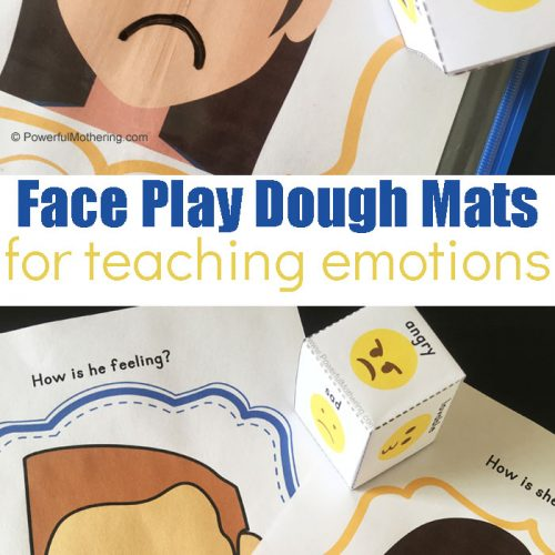 Playdough Mats To Help Teach Kids All About Emotions With A Fun Game!