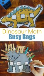 Dinosaur Math Printable Busy Bag