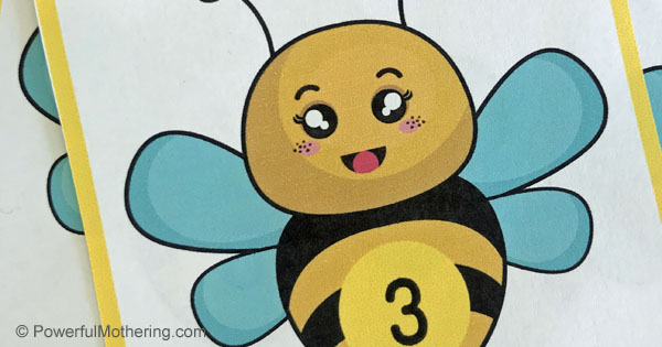 This Buzzing Bee Math Cards and Game is a fantastically fun way to help kids identify numbers 1-20