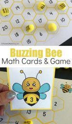 Free Printable Buzzing Bee Math Cards & Game