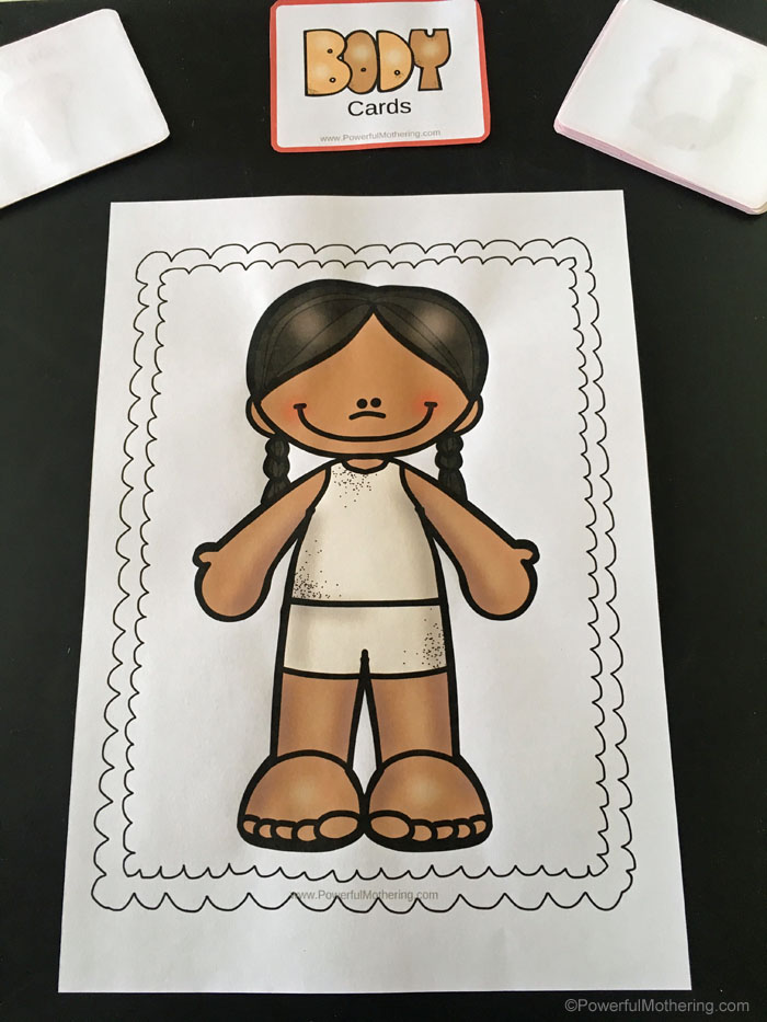 Body Part Matching Game To Help Children Identify Body Parts and Locations