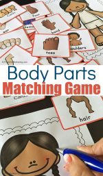 Printable Body Parts Matching Game