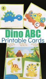 Dinosaur Alphabet Cards and Matching Game