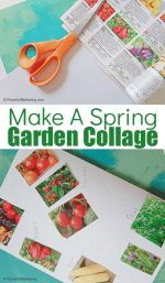 Easy Paper Garden Collage Craft for Kids