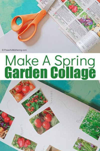 This is a fun craft for kids that is perfect for Spring. Grab those gardening catalogs and create a easy paper garden collage of your own!