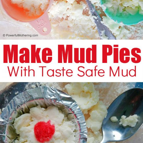 A fun sensory activity. Create Mud Pies using taste safe, clean 'mud'. This is fantastic for strengthening hand muscles and promoting pretend play.
