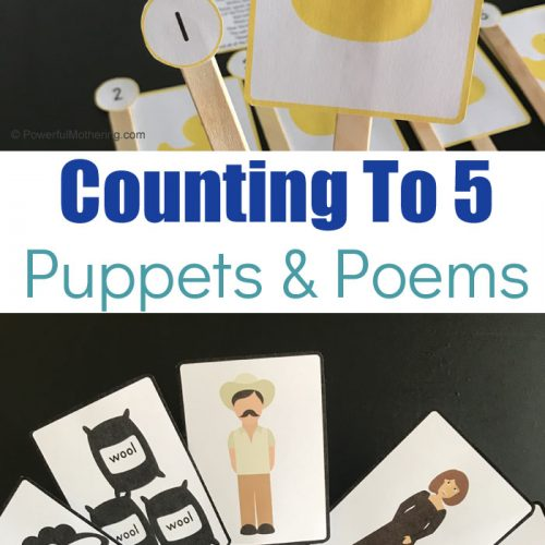 Printable Animal Puzzles that will help teach kids counting to 5. These poems and puzzles are fun and an exciting way to practice counting!