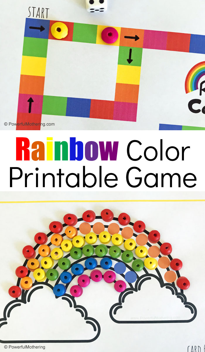 image relating to Printable Colors referred to as Printable Rainbow Colours Video game