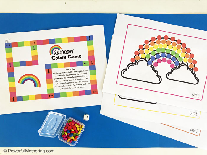 Learning colors is an important part of childhood development and this Rainbow Colors Game can help immensely.