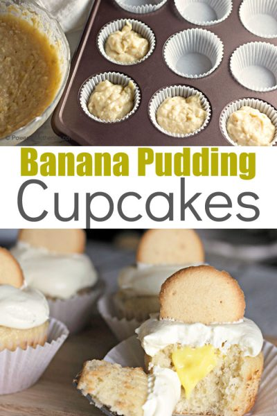 Delicious and sweet Banana Pudding Cupcakes. A simple recipe with a fancy result.