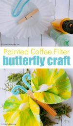 Coffee Filter Butterfly Craft for Kids