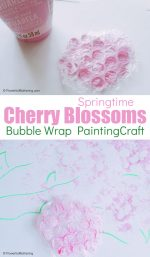 Cherry Blossom Bubble Wrap Stamps