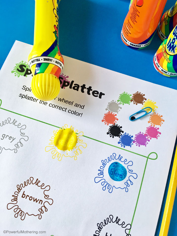 Help children learn their colors with this fun printable color game with multiple options!