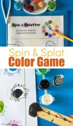Free Printable Spin and Splat Color Game