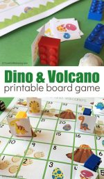 Free Printable Dinosaur and Volcano Counting Game