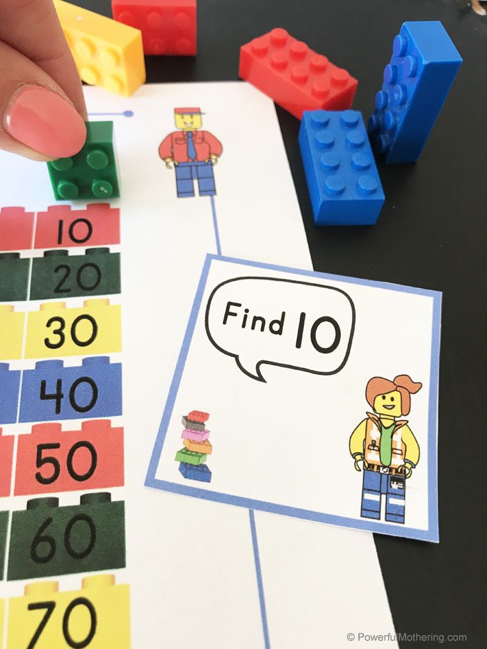 Fun LEGO game for learning to count 1-100