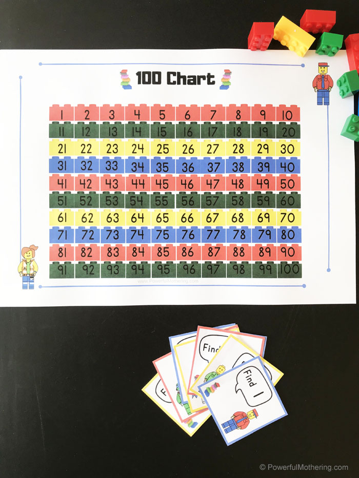 LEGO themed 100s chart!