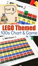 Free Printable LEGO Themed 100 Chart & Game