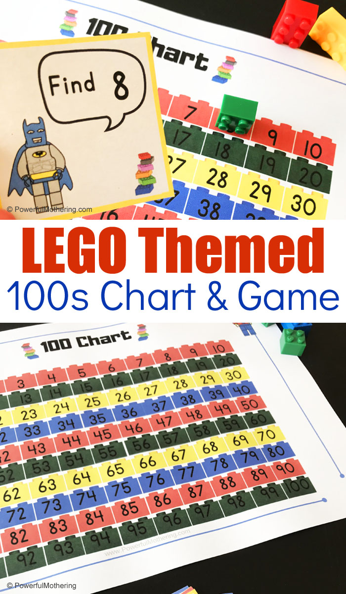 photo regarding Printable 100's Chart named Free of charge Printable LEGO Themed 100 Chart Activity