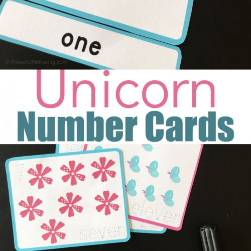 Unicorn Number Cards For Counting From 1-20