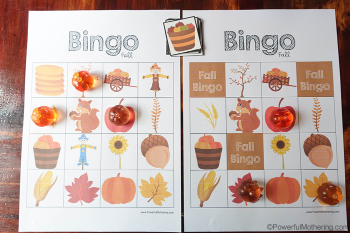 Fall Bingo Game Co Coperative Competitive
