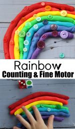 Rainbow Playdough Counting and Fine Motor Activity