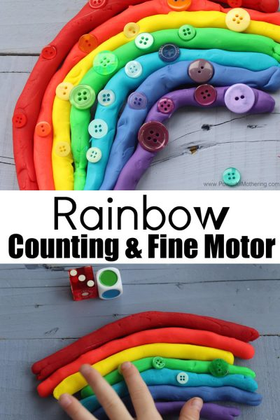 Rainbow Counting And Fine Motor Activity For Preschool