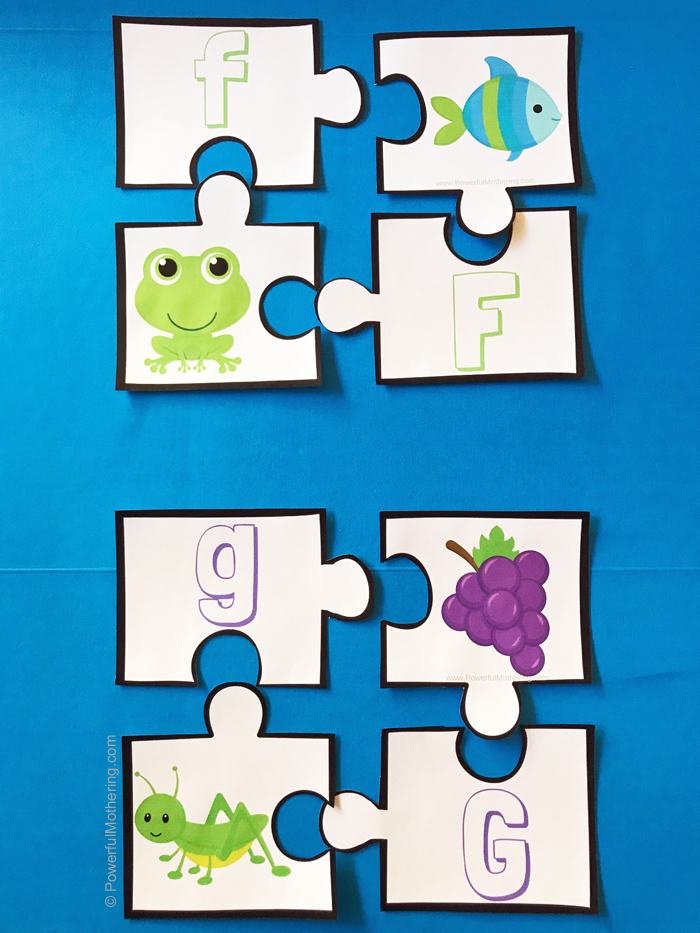 A printable puzzle to help children master beginning sounds