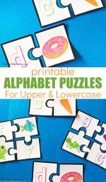 Printable Alphabet Matching Puzzles For Preschoolers