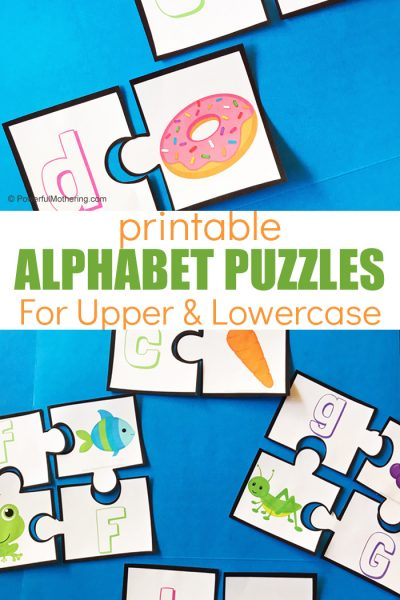 A printable puzzle to help teach beginning sounds, with two levels.