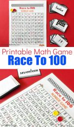 Race To 100 Printable Math Game