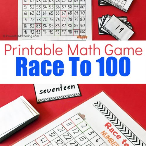 A fun math game for kindergarteners to learn to count from 1-100.