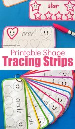 Free Printable Shape Tracing Strips