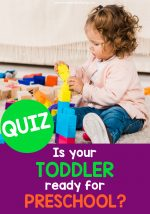 Is your Toddler ready for Preschool? Take the Quiz