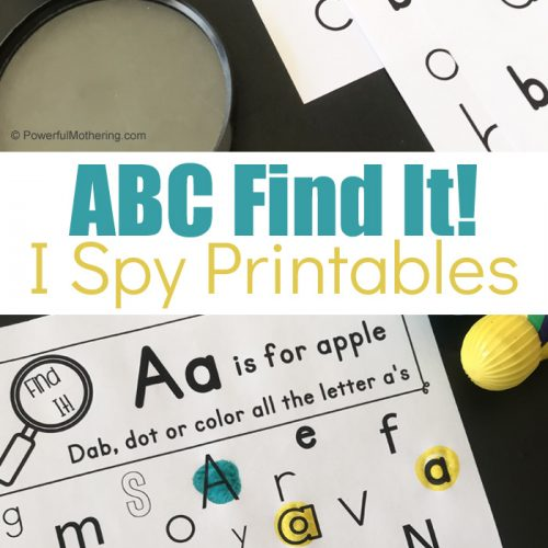 ABC Find It I Spy Game For Prechool and Kindergarteners. This is great for letter identification and it is fun too!