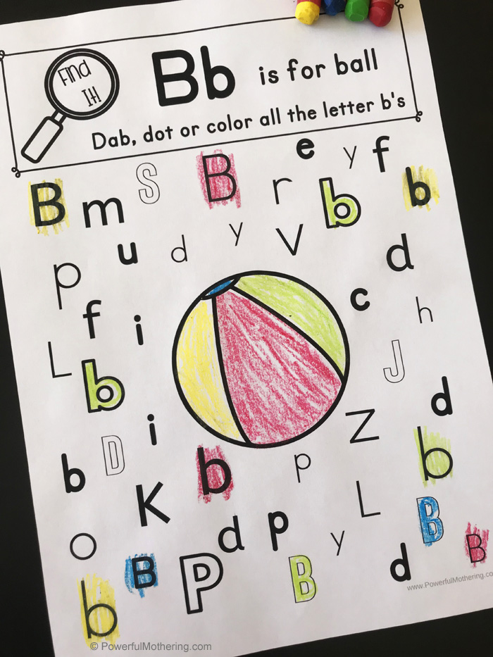 Alphabet Game For Learning. A spin on an I Spy game for letter identification.