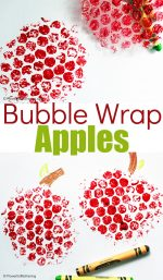 Fall Bubble Wrap Apple Craft