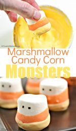 Candy Corn Marshmallow Treats For Fall