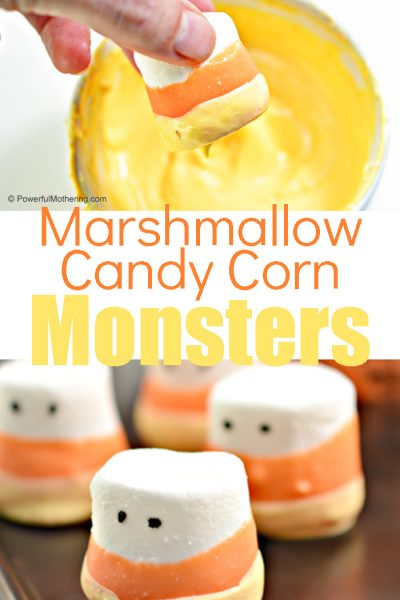 A delicious sweet treat for Fall. Using marshmallows to help create fun candy corn inspired treats!