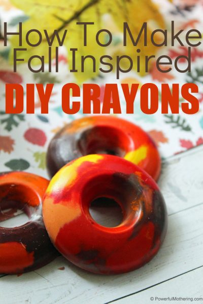 Use your old broken crayons to create these new Fall inspired crayons!