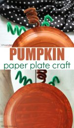 Super Cute Paper Plate Pumpkin Craft For Kids