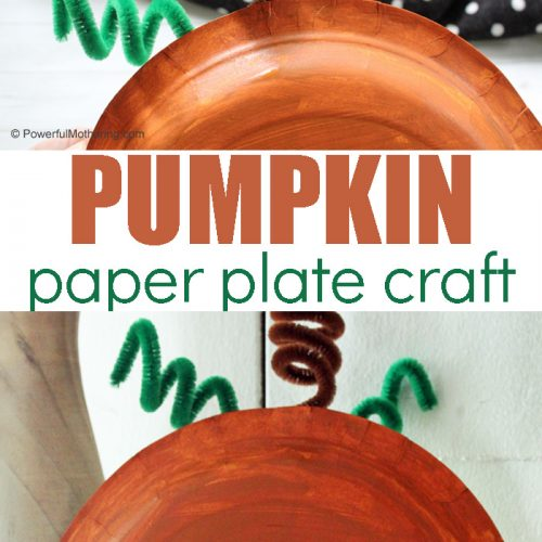 A Simple Paper Plate Pumpkin Craft for Kids. This is a great way to kick off Fall and can double as a decoration too!