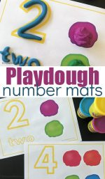 Printable Playdough Number Mats