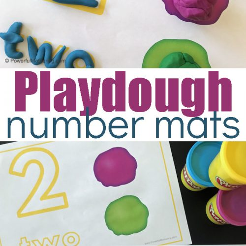 Playdough mats for exploring number identification and number sense. Playdough is a fantastic sensory activity and together this is a fantastic preschool or kindergarten activity!