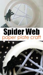 Simple Spooky Spider Web Craft for Kids