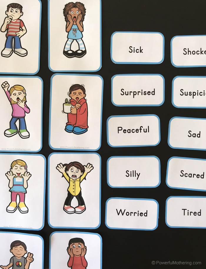 A playful game for kids to learn about emotions.