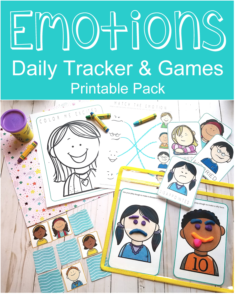 Emotions Daily Trackers Games Printable Pack Powerful Mothering
