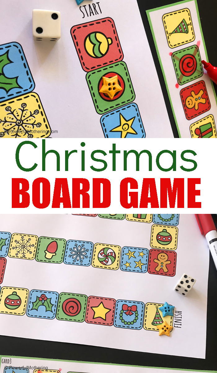 Play this Christmas board game before or on Christmas to help increase the magic and anticipation. Young children and adults will enjoy playing this game together!