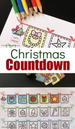 Free Printable Christmas Countdown Chart
