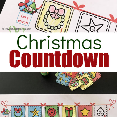 Countdown to Christmas with your kids. This free printable Christmas Countdown Chart is a simple way to help your children enjoy the magic of the Christmas season and anticipate the big day.